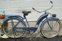 40and039s Pre-war Colson Goodyear Double Eagle Original Clipper Bicycle-biscuit Light