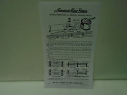 Repro American Flyer M2212 Instructions For 584 Bell Danger Signal Mint