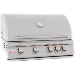 Blaze Built-in Gas Grill With Lights 32 - Stainless Steel Cast Burners