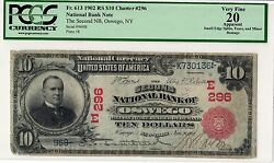 1902 10 National Oswego Ny Ch.296 - Red Seal - Pcgs 20 - 2 Known Best Offer