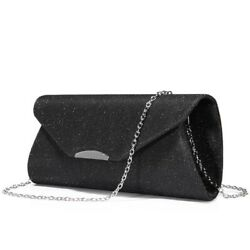 Women Envelope Purse Fashion Cross Body Party With Chains Evening Clutches Bags $20.26