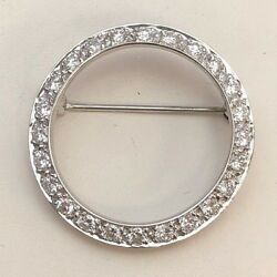 Platinum Vintage 1 15 CTW Diamond BroochPin
