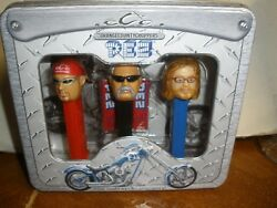 New Limited Edition 2006 Orange County Choppers Pez Dispenser Set In Gift Tin