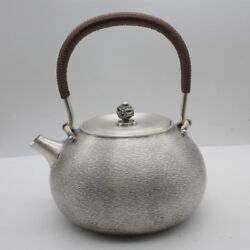 Collectible New Chinese Handwork S999 Silver Perfect Smooth Coffee Tea Pot/ 725g