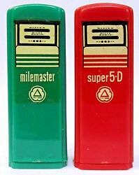 1950's Cities Service Troy Ohio Pair Of Matched Gas Pump Salt And Pepper Shakers