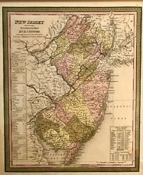 Antique Map United States New Jersey