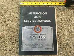 Continental Motors Corp. C75 And C8 Instuucrions Service Manual Aircraft Engines