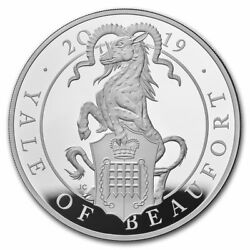 2019 Gb Proof 10 Oz Silver Queenand039s Beasts Yale Box And Coa - Sku186786
