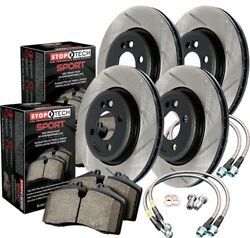 StopTech 977-45000 Sport Brake Kit Slotted Front And Rear Incl. Rotors Pads And