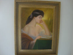 Antique France  Oil Painting 20th Canvas On Board