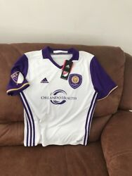 Adidas Climalite Orlando City Sc Mls Soccer Jersey Nwt Size L Youth