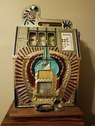 Antique Repop War Eagle Slot Machine Vintage Coin Operated
