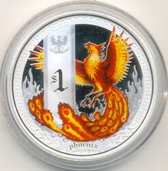 Tuvalu 1 Dollar 2013 Mythical Creatures Phoenix 1oz Silver Proof Coin