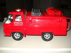 Rare 1966 Vintage Structo Fire Truck By Ertl Toys-great Condition