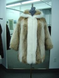 Brand New Coyote And White Fox Fur Jacket Coat Woman Women Man Men Size All