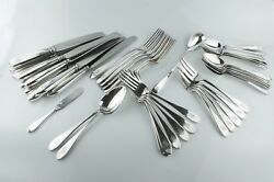 44 Pc. Arthur Stone George Blanchard Sterling Silver Flatware Set- Pointed End
