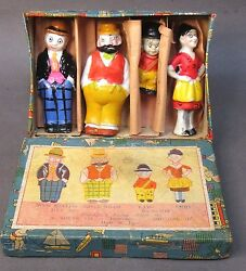 1930and039s Moon Mullins Boxed Set Comic Character Japanese Bisque Figures