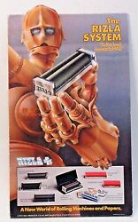 1978 Rizla Rolling Papers Counter Top Cardboard Display Sign C3po Style Robot