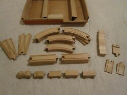 Vintage 1970's - Creative Playthings - Wooden Train Set W/box - 34 Pieces