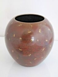 Wmf Ikora Germany Red And Gold Metal Chinoiserie Art Deco Vase