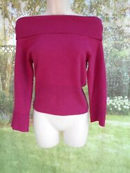 Vintage 80#x27;s Over the Shoulder Guess 100% Cashmere Sweater Sz s $43.00