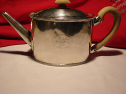 1781 George Iii Sterling Silver Teapot By Andrew Fogelberg And Stephen Gilbert