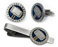 Thorand039s Hammer Cufflinks Avengers Thor Tie Clip Comic Book Wedding Cuff Links