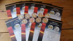 Lot Of 8 Pcs Medals - 1200 Years Of German Coin Pure Silver 999/1000