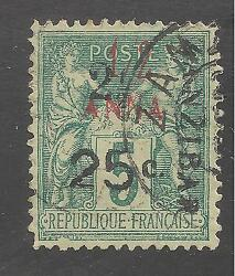 French Offices In Zanzibar 29 Vf Used - 1897 Peace And Commerce - Scv 240.00