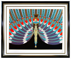 ERTE The Nile Original Serigraph Hand Signed Art Deco Fashion Costume Design SBO