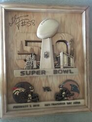 panthers/ Broncos Wood Picture One Of A Kind Exact Replica Of Super Bowl Ticket