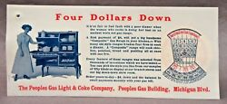 1910 Peoples Gas Light Perpetual Calendar Celluloid Ink Blotter Pad Cover