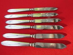 1920and039s 6 Fruit Knives By 1847 Rogers Silver Plate 6 Long