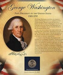 2007-p Washington Dollar And Stamps Set In Presentation Page, United States