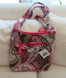 Nwt Vera Bradley Retired Very Berry Paisley Large Hipster Bag