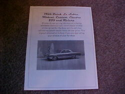 1966 Buick Full-size Fact Cost/dealer Window Sticker Pricing For Car + Options