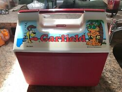 Htf And Very Rare Garfield Thermos 15qt / 14 Liter Plastic Cooler Made In The Usa