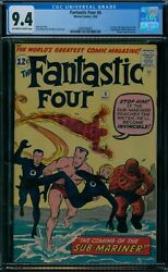 Fantastic Four 4 CGC 9.4 1st Sub-Mariner  oww pages!