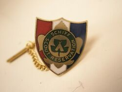 Schiff Scout Reservation Vintage Lapel Pin Tie Tack Mortimer L. New Jersey Bsa