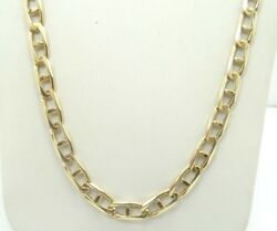 14k Yellow Gold Diamond Cut Mariner Anchor Link Chain Necklace 24.5 D4093