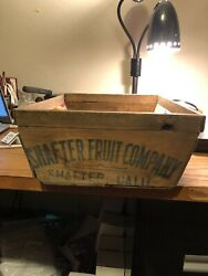 Rare Shape Antique Shafter California Fruit Company Wooden Crate Box