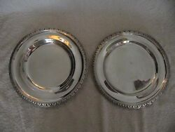 French Sterling Silver Minerve Round Trays Odiot Empire Style 943gr
