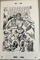 Daredevil 71 Cover Oversized Large Production Art Comic Marie Severin