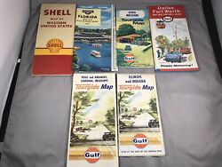 Vtg Oil And Gas Maps 1960s Lot Of 6 Maps Standard Oil Shell Gulf Enco