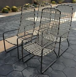 Vintage Brown Jordan Lido High Back Patio Dining Chair Set Refinishing Included