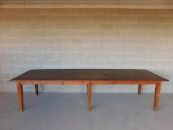 Antique Barn Wood Shaker Style Farm Dining Table 129.5l