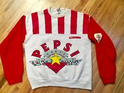 Rare Vintage Pepsi Charter Member Sweatshirt W/ Patch Aunthentic Made In Usa