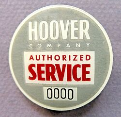1940's Wwii Hoover Company Authorized Service Employee Home Front Badge Pin +