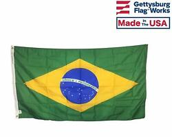 Brazil Outdoor Durable All Weather Nylon Flag - Made In Usa - Free Shipping
