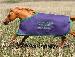 CALIFORNIA CHROME embroidered blanket Breyer thoroughbred race horse